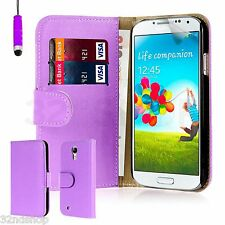 PU LEATHER WALLET CASE COVER FOR SAMSUNG GALAXY S4 I9500 Mini I9190