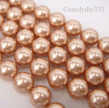 50x SWAROVSKI 5810 Rose Gold 6mm CRYSTAL PEARL ROUND BEAD