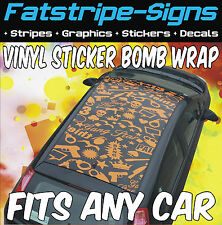 FIAT GRANDE PUNTO VINYL STICKER BOMB ROOF WRAP CAR GRAPHICS DECALS STICKERS 1.4