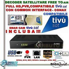 DECODER HD JB007+ CAM TivùSat con SCHEDA GOLD CON FUNZIONE REGISTRAZIONE FULL HD