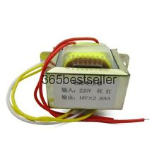 30W 18V input 220V 50Hz/output 30W2*18V power transformer 18V