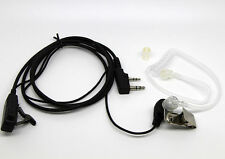 Transparent Covert Acoustic Tube Earpiece FOR KENWOOD BAOFENG UV5R Radio 2 Pin
