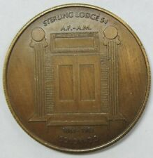 1883-1983 Sterling Colorado Sterling Lodge 54 A.F.-A.M. Medal