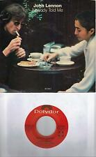 JOHN LENNON  Nobody Told Me  rare promo 45 with PicSleeve  THE BEATLES