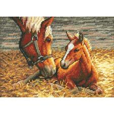 Counted Cross Stitch Kit  GOOD MORNING; Horses Dimensions Gold Collection