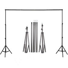 10ft Adjustable Photography Background Backdrop Support Stand+ Crossbar Kit Set