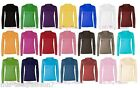 Womens Turtle Neck Polo Neck Long Sleeve Stretch T Shirt Top Jumper 8-14