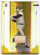 Ted Williams 2004 Leaf Certified Mirror Gold Bat #/25 Red Sox FREE SHIP