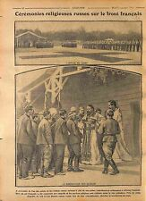 Camp Office Orthodox Russia Imperial Russian Army France Cossacks 1916 WWI