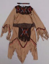 Charades Women's Sacajawea Indian Maiden Costume Set Brown GG8 Size Small
