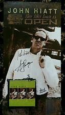 JOHN HIATT - THE TIKI BAR IS OPEN  AUTOGRAPHED SIGNED CD PROMO  POSTER! w/ pics!