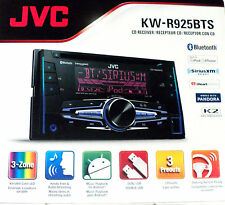 NEW JVC KW-R925BTS 2-DIN Bluetooth In-Dash Car Stereo and SiriusXM Ready