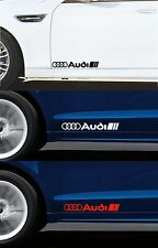 For AUDI - 2 x DOOR DECALS STICKERS ADHESIVES -  TT RS A3 A4 QUATTRO  300mm long