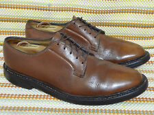 FLORSHEIM IMPERIAL 5 NAIL/ V METAL MEN SHOES 8.5 E BROWN LEATHER OXFORDS VINTAGE
