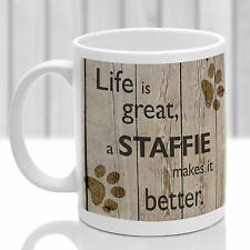 Staffordshire Bull terrier mug, Staffie dog gift, ideal present for dog lover