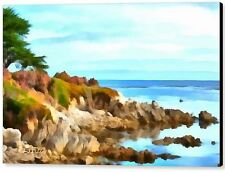 Monterey Coastline Water by Barbara Snyder Seascape Abstract Canvas Giclee 16x20
