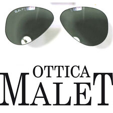 LENTI RICAMBIO RAY BAN 3025 62 AVIATOR GREEN LENSES  G15 POLARIZZATO POLARIZED