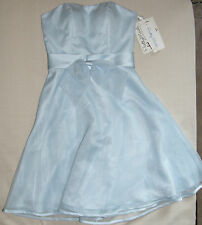 Original Price $149.95 New Brides Prettymaids Sky Blue Short Formal Dress Size 6