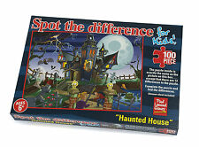 Spot The Difference Haunted House Children's Quality Jigsaw Puzzle (100 Pieces)