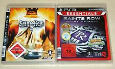 2 PLAYSTATION 3 SPIELE SAMMLUNG SAINTS ROW 2 & 3 THE THIRD - (SHOOTER ACTION IV)