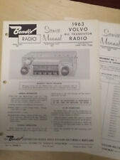 Bendix Service Manual for 1963 Volvo Radio 3BN 279958 279959 279960