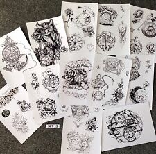 TATTOO FLASH DESIGN SHEETS, LAMINATED !
