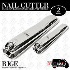 NAIL CUTTER CLIPPER 2X BRAND NEW LARGE STAINLESS STEEL HAND FOOT NAIL TRIMMER