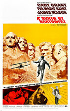 ALFRED HITCHCOCK'S NORTH BY NORTHWEST movie poster CARY GRANT new 24X36 -VW0