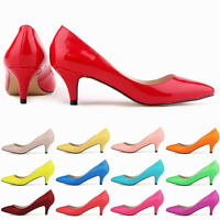 Sexy Patent Leather Women Wedding Shoes Pointy Toe Kitten Heels Colorful Shoes