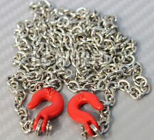 "RC 1/10  Scale Truck  Accessories METAL CHAIN WITH HOOKS Tow Cable 36"" Long !!"