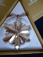 New Swarovski Large Gold Tone Christmas Star Ornament 2014 retired MIB 5059027