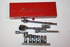 "SNAP-ON TOOLS CORNWELL 1/4"" DRIVE 12-POINT UNIVERSAL SOCKET GENERAL SET KRA229"