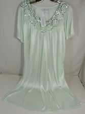 LATI FASHION XL Bright Green Womens Short Sleeve Nightgown 100% Polyester