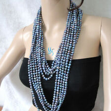 "5 Strands 64"" 6-8mm Peacock freshwater pearl necklaces Wholesale Jewelry U"