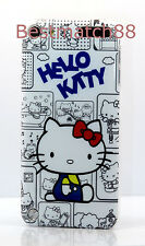 for iPod touch 5th 5 th itouch 5 th 5 gen  hello kitty  gray red hard back case