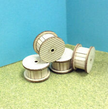 Laser Cut Custom HO Scale Cable Reel Kit 4 Pack
