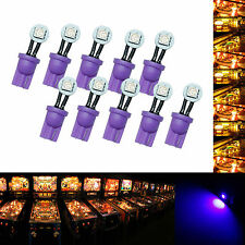 30x #555 T10 1 SMD LED Folded Pinball Machine Light Bulb Purple AC/ DC 6.3V