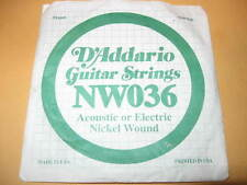 New 2 D'ADDARIO Guitar Strings ACOUSTIC ELECTRIC .61 .91mm string nickel wound
