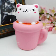 Colossal Squishy Cup Cat Slow Rising Cream Scented Soft Toy Party Favor Gift