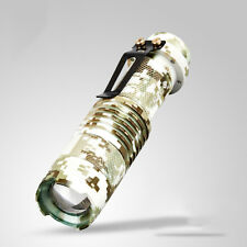 Aluminum Camouflage Q5 CREE LED Flashlight Zoom Focus 14500 Torch Lamp Light
