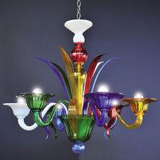 Lampadario In vetro di Murano 6 luci multicolor