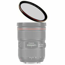 58mm MRC Multi-Coated UV Filter w/ Red Plating + Case f/ Canon Rebel T6i/T6s/T5i