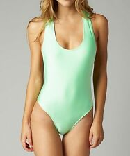 Fox Racing Womens Fling Onepiece Swimsuit Moto Mint Size S