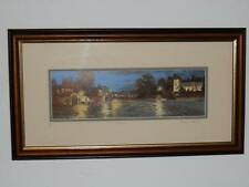 GEORGE SKELTON LIMITED EDITION FRAMED PRINT SIGNED ''STANHOPE'' AT NIGHT PICTURE
