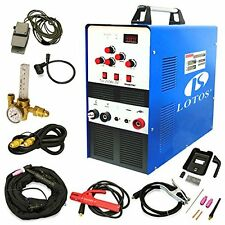 LOTOS TIG200 200A AC/DC Aluminum Tig/Stick Welder Square Wave Inverter with P...