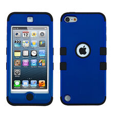 for iPod Touch 5th / 6th Gen BLUE High Impact Armor Hard&Soft Rubber Hybrid Case