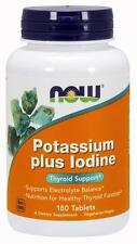 Potassium Plus Iodine 180 Tabs, Now Foods, Thyroid Support, Safe Iodide Potency