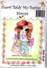 NEW My-Besties Clear cling Rubber Stamp HOLLY & HOPPER BUNNY GIRL  free usa ship