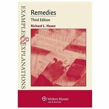 Remedies by Richard L. Hasen 3rd Edition Like New