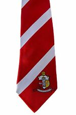 Kappa Alpha Psi 100% silk Krimson and Kreme Tie
